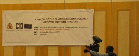 Mining Governance and Growth Support Project Launch