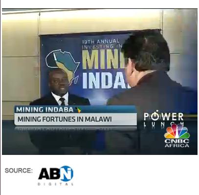 John Bande Malawi Mining Indaba