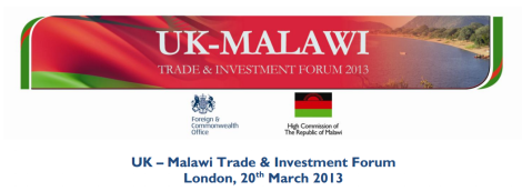 UK-Malawi Trade and Investment Forum 2013