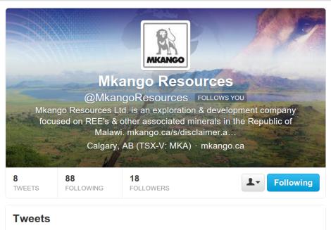 Mkango Resources on Twitter