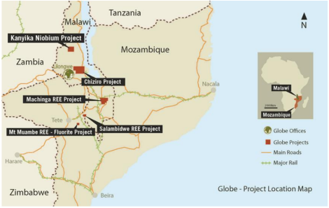 Globe Metals & Mining in Malawi (Courtesy of Globe)