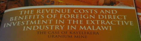 AFRODAD - The Revenue Costs and Benefits of FDI in the Extractive Industry in Malawi - The Case of Kayelekera Uranium Mine
