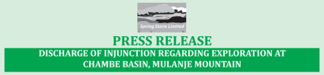 Spring Stone Press Release: Dismissal of Injunction