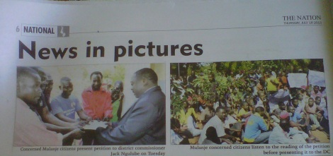 Images Courtesy of The Nation (18 July 2013)