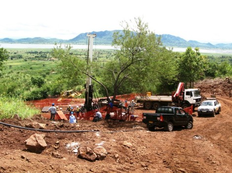 Mkango Resources First Drill Pad at Songwe Hill, Malawi (Courtesy of Mkango Resources)