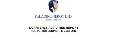 Paladin Quarterly Activities Report