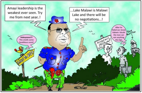 Lip Smile depicts the latest remarks made by Peter Mutharika, presidential aspirant and brother to former president (Courtesy of Nyasa Times)