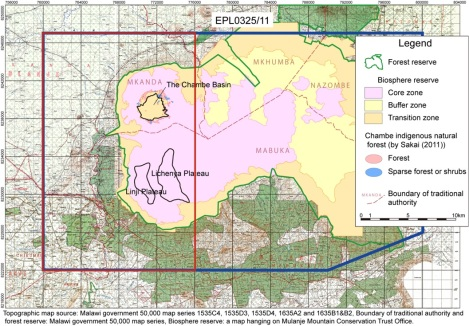 Spring Stone Exclusive Prospecting License for Chambe Basin in Mulanje, Malawi (Courtesy of Spring Stone)