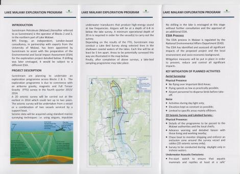 Surestream Petroleum ESIA Handouts (January 2014) (2)