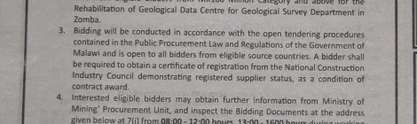 Geological Survey Department | Mining in Malawi