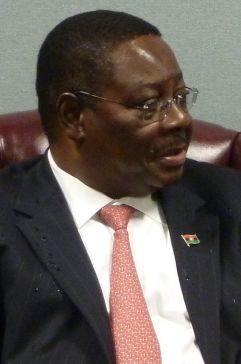 Professor Arthur Peter Mutharika in New York on 23 September 2011  when he was still Malawi's Foreign Minister (Courtesy of FCO)