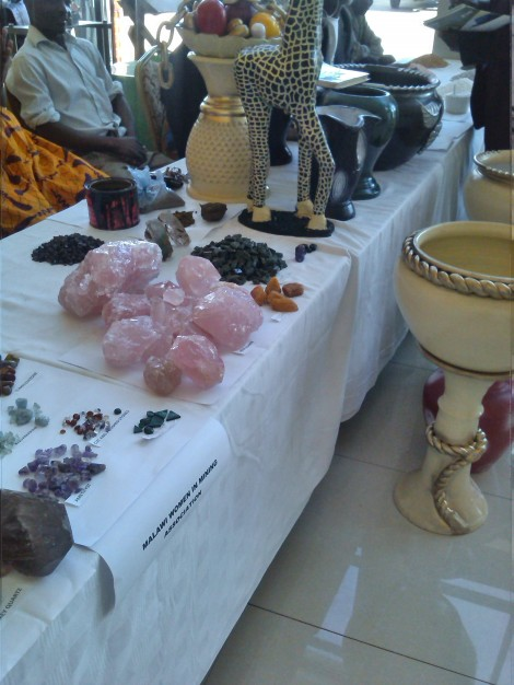 Gemstones on display during exhibition at Mines and Minerals Act Review Symposium
