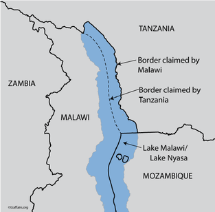 Disputed border of Lake Malawi (Courtesy of Tanzanian Affairs )