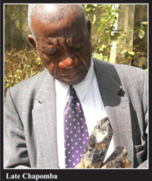 The late Chapomba, taken from the Mining Review back page (Issue No. 15, August 2014, Marcel Chimwala)