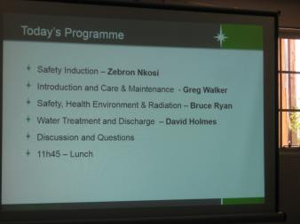Programme of Kayelekera Uranium Project Mine Visit