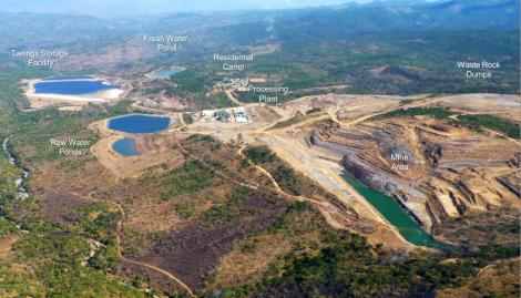 Kayelekera Mine Site Layout (Image taken from Paladin Africa presentation at Extraordinary DEC Meeting, Karonga, 28 October 2014)