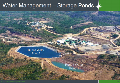 Water Management - Storage Ponds at Kayelekera Uranium Mine (Image taken from Paladin Africa presentation at Extraordinary DEC Meeting, Karonga, 28 October 2014)