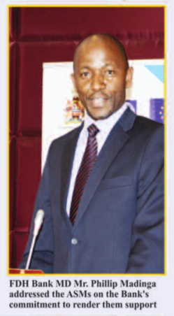 FDH Bank's Managing Director  Phillip Madinga (Courtesy of the Mining Review)