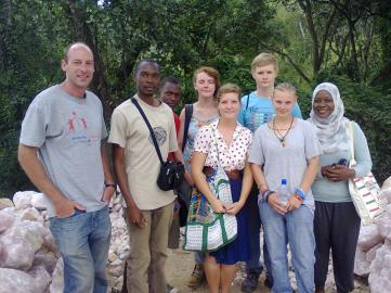 Group photo at Zumwanda Mine (Photo taken by Chikomeni Manda)