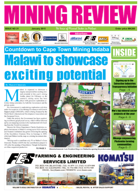 2015-01 Mining Review Front Page
