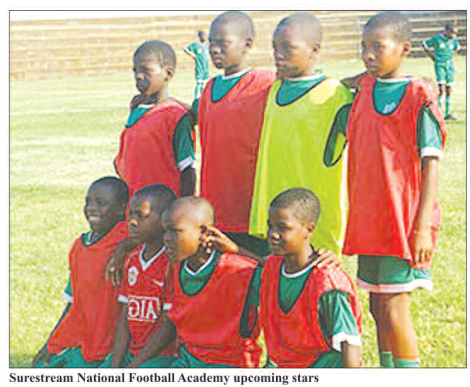 Surestream National Football Academy (Image taken from the back page of the Mining Review January 2015)