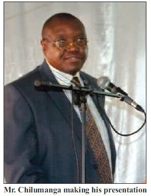 2015-05 Peter Chilumange Acting Director of Mines Presenting 14-15 April