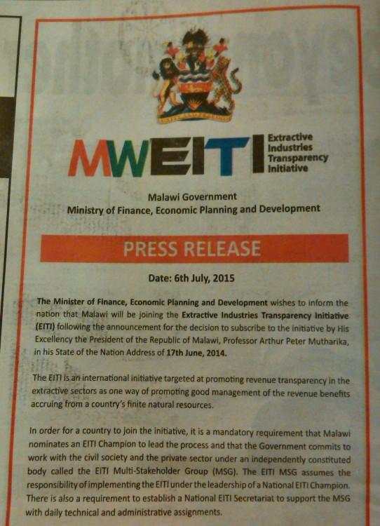 2015-07-12 MWEITI Press Release 1