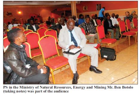 2015-07 Mining Review Debate on Mining Bill Principal Secretary Ben Botolo