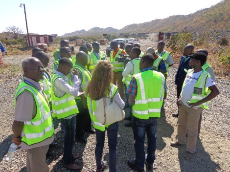 Malawian EITI Delegation being briefed on the benefits of EITI to industry at Zambian Munali Nickel Mine