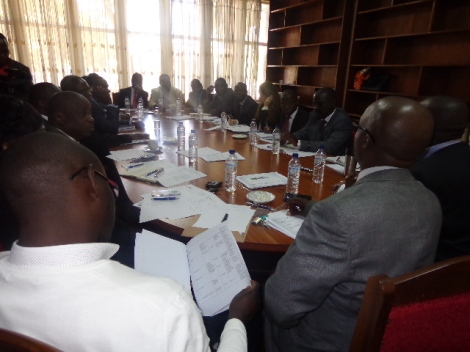 Malawi's EITI Delegation learning from ZEITI at the Geological Surveys Department in Zambia