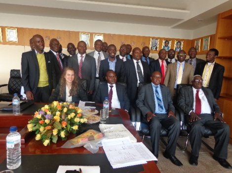 Malawi's EITI Delegation with ZEITI at the Zambian Ministry of Mines, Energy and Water Development