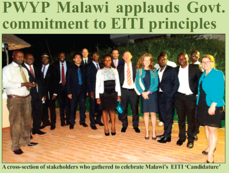 2015-12 Mining & Trade Review PWYP Malawi Applauds Government on EITI