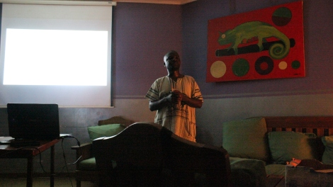 Godfrey Mfiti, Director of the Institute for Sustainable Development, gave a talk on Lake Malawi and oil exploration, 3 December 2015