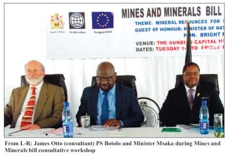 2016-02 Mining Review Mining Bill Consultative Workshop Otto, Botolo Msaka