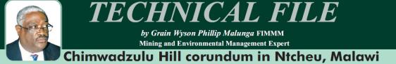 2016-02 Mining Review Technical File Grain Malunga Chimwadzulu Hill corundum in Ntcheu, Malawi