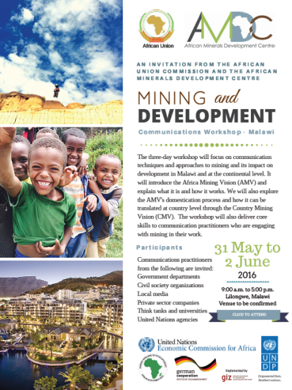 2016-06-31 AMDC Communications Workshop Flyer Malawi