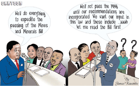 2016-06 Mining Review Cartoon James Kazembe Malawi's Mines Bill
