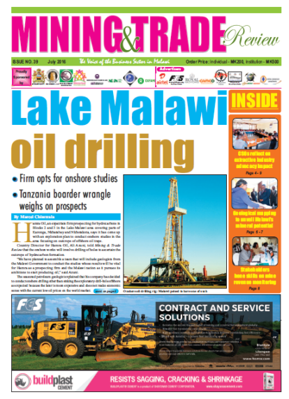 2016-07 Malawi Mining and Trade Review Lake Malawi Oil Drilling