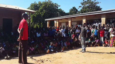 ICOME leads communities in theatre for development activity near Nyala Mines' Chimwadzulu Ruby Mine