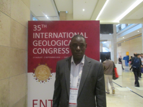Chiwona at the 35th International Geological Congress (Cape Town, Republic of South Africa)