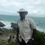 Chiwona in the field (New South Wales, Australia) where he completed his Master of Science in Geology