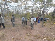 World Environment Day: YAACC takes visitors to see the impact of mining in Tchemba Forest, Mzimba (August 2016)