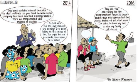 2016-12-malawi-mining-trade-review-cartoon-james-kazembe-resettlement-compensation-kanyika