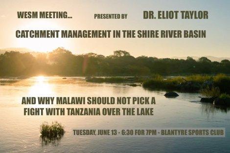 20170613 WESM Talk Lake Malawi Catchment Area Shire