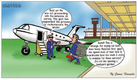 201707 Malawi Mining & Trade Review Oil & Gas Blocks Demarcation Cartoon James Kazembe