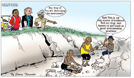 201710 Malawi Mining & Trade Review ASM Cartoon