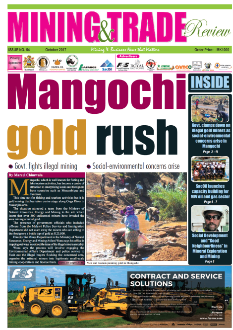 201710 Malawi Mining & Trade Review Cover Mangochi gold rush.png