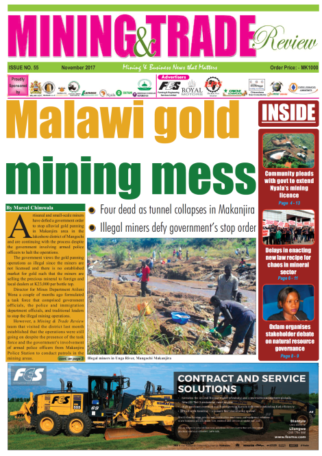 201711 Malawi Mining & Trade Review Cover Gold