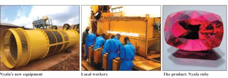 201711 Malawi Mining & Trade Review Nyala Mine Ruby, Equipment, Staff