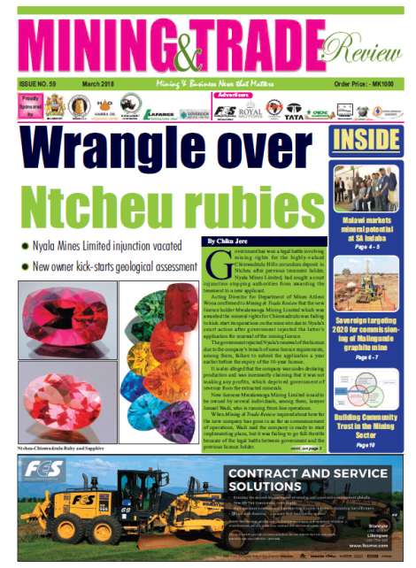 201803 Malawi Mining & Trade Review Cover Ruby